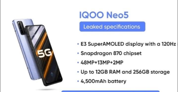 iQOO Neo5开箱谍照和3C认证截图曝光 标配66W快充 性能挑战旗舰