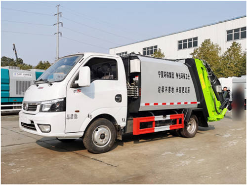 刘国蓝牌东风易图3.5平方压缩垃圾车图片性能参数介绍