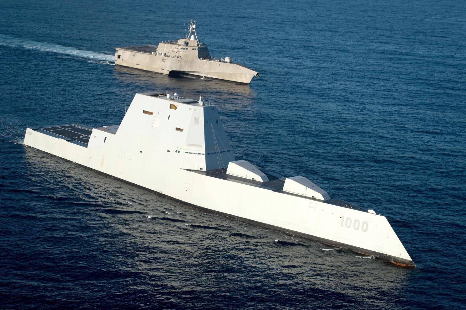 原来大眼睛的美国也指055?下一代驱逐舰透露,只比伯克贵一点点