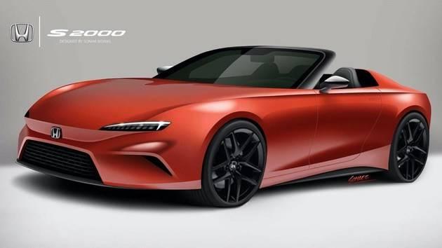 新款本田S2000跑车效果图的外观更加激进