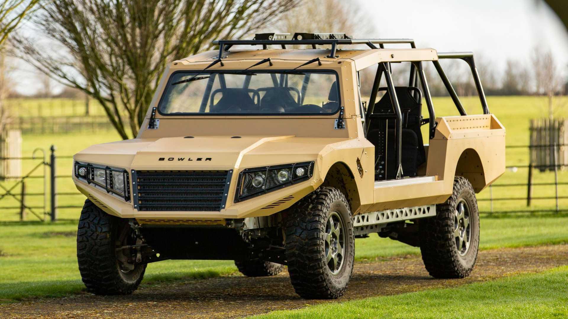 最初与英国国防部合作,基于旧的警卫,鲍尔勒军用概念车将被拍卖