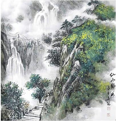 著名书画家、国家一级美术师宋峰长卷作品获拍182万插图(5)