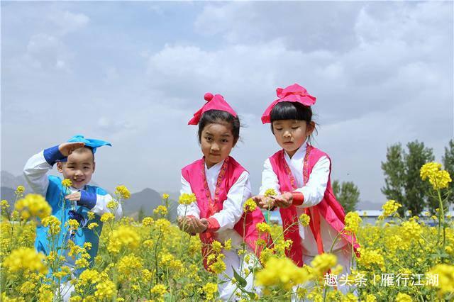 河北踏春赏花目的地推荐,狼牙山的春天,油菜花是最美的风景