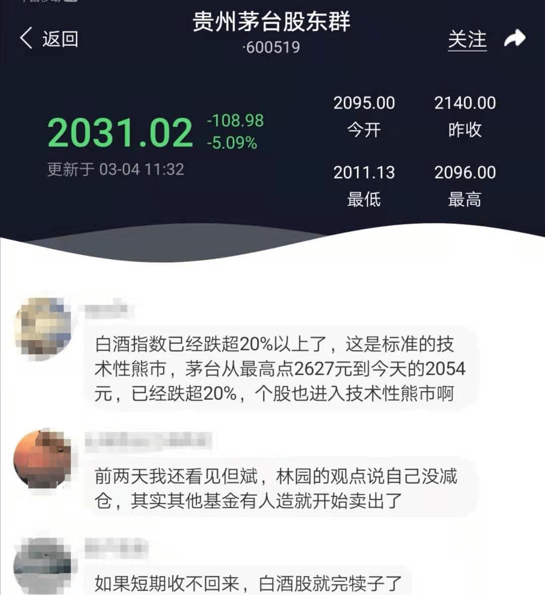 酿酒板块暴跌超20%,贵州茅台蒸发7700亿,熊市来了?
