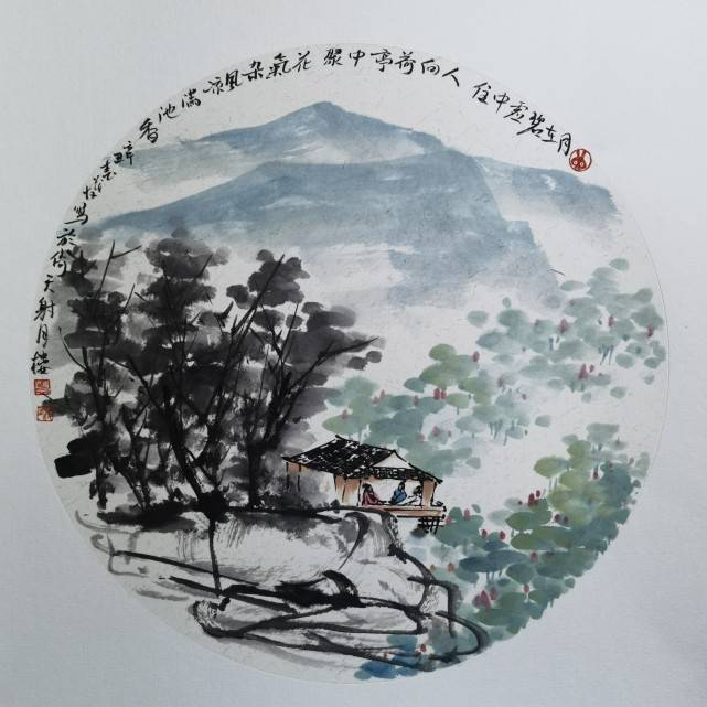 一泓清可沁诗脾——蔡茂友辛丑年水墨山水画作品欣赏