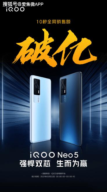 Neo5首銷大捷!10秒全網銷售額破億