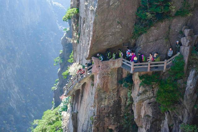 黄山西海大峡谷:遗落人间的仙境,这里的悬臂阶梯你敢去爬吗?