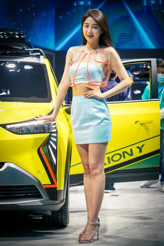 图赏:上海车展上的车模小姐姐们(图22)