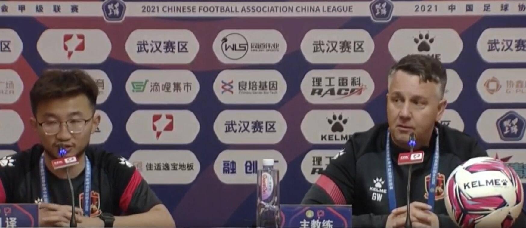 苏州东吴盖瑞怀特:这是本组中甲开赛以来水平最高的一场比赛…