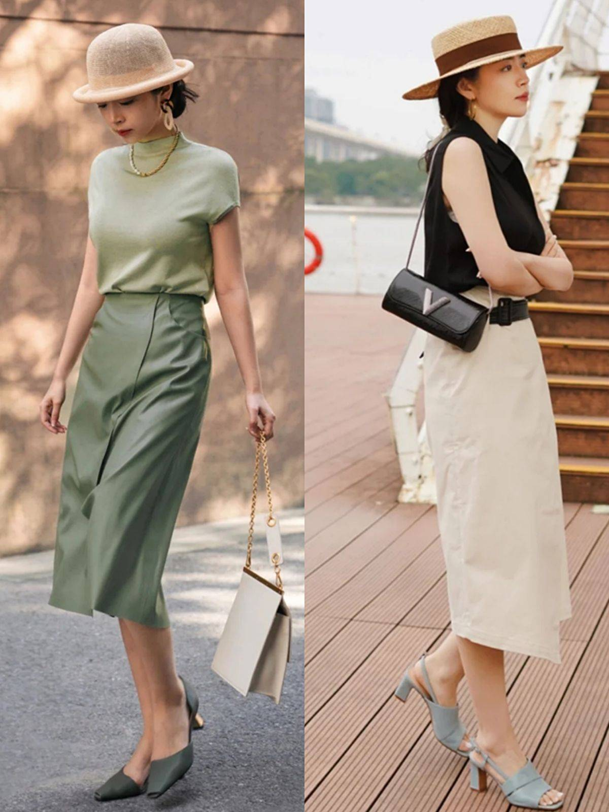 夏季下装不用买太多,看三木用4种下装穿出优雅与高级太会穿了