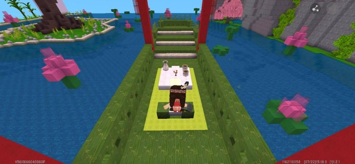 《迷你世界》必玩的高颜值地图(樱花和宫殿相辅相成)