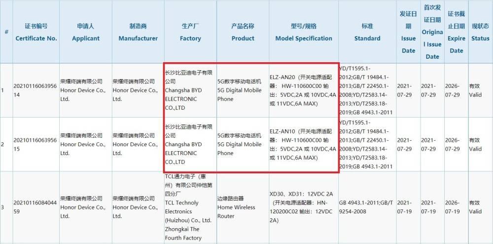 爆料称荣耀Magic3系列已获3C认证 美光公布该机将首发最新UFS3.1