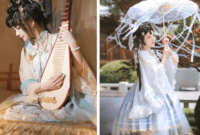 图片[2]-中国古风与洛丽塔的碰撞!顶级Lo娘谢安然实力演绎另类裙子,美如画-妖次元