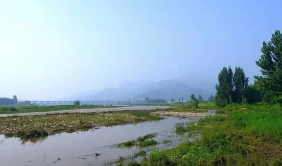 石家庄冶河游记:井陉高岸村河岸风光
