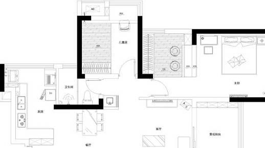80㎡两房,入户鞋柜很满意,木地板电视墙实在喜欢,晒晒
