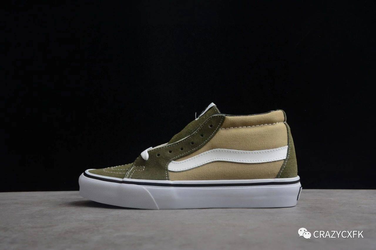 万斯 Vans Sk8-Mid Vault x JJJJound 联名中帮麂皮帆布鞋