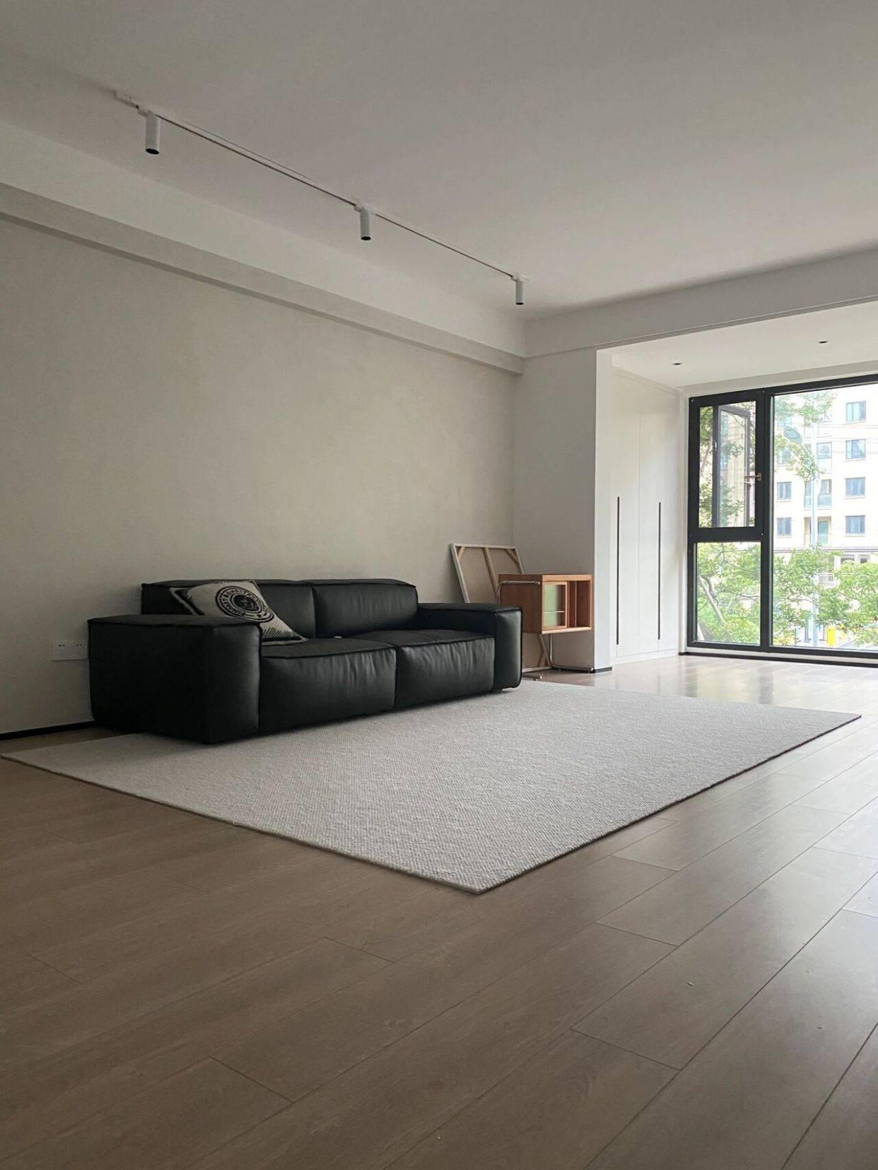 成都龙泉130平现代极简风设计,全屋定制搭配简单的线条更舒适