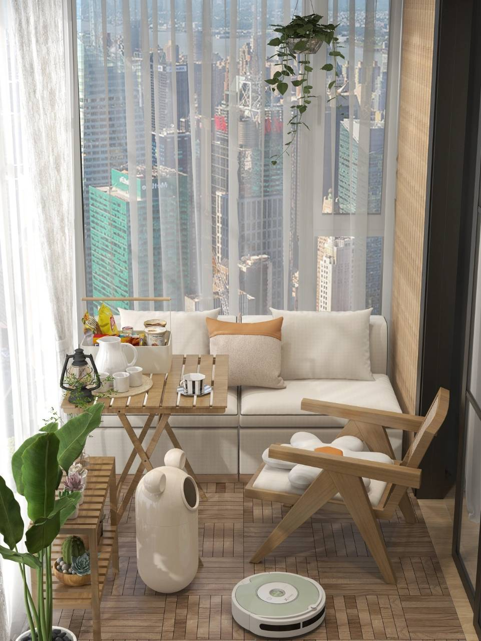一个人最舒服的时候可能就是这样吧,坐在高楼阳台上,眺望远景