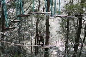 """令人玩得心驚肉跳的""""滑鼠飛越叢林"""" 滑索全長1680米"""