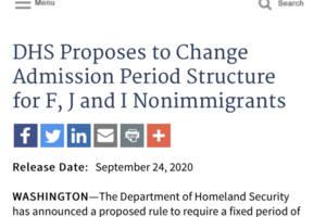 美国政府宣布留学生及外国记者签证新规修改意见