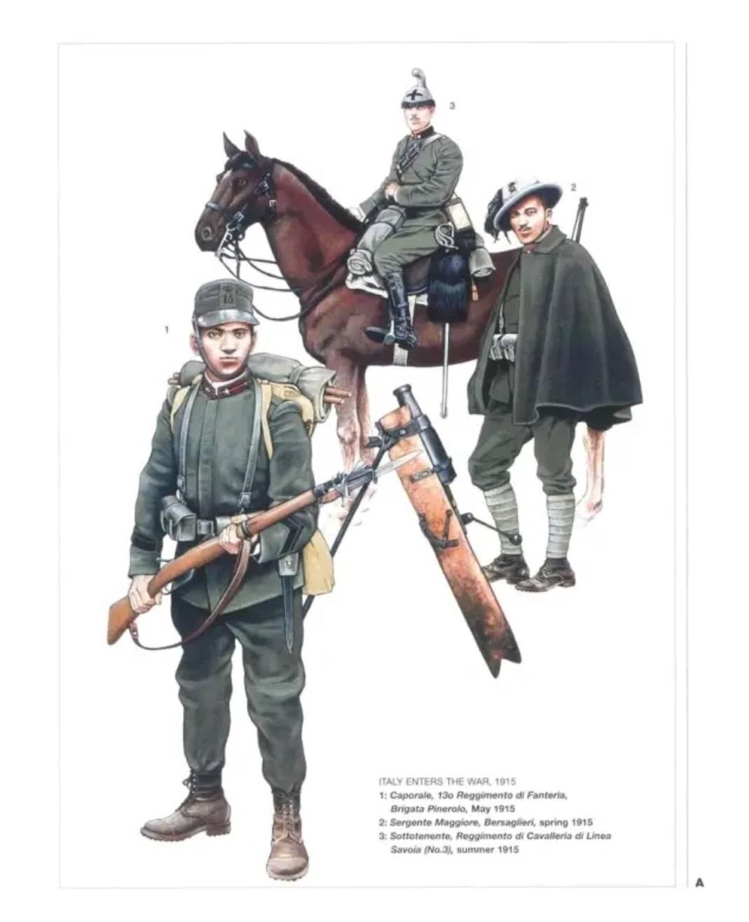 一战时期的意大利陆军士兵