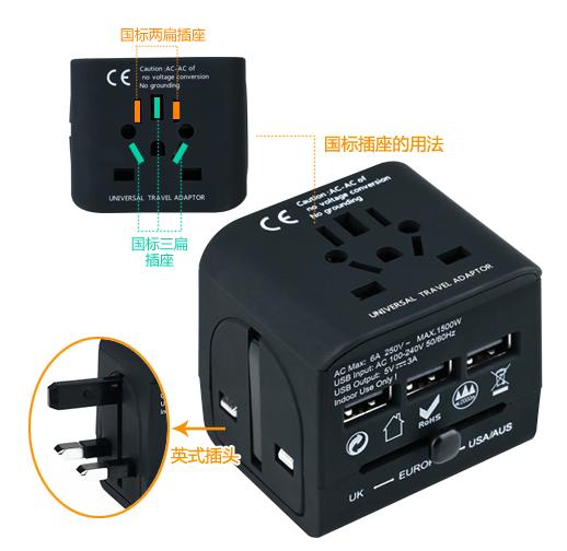 沙巴旅行攻略:插座转换器标准