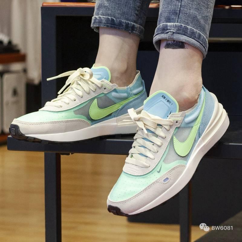"""耐克Nike Wmns Waffle One""""Scream Green""""华夫一代网纱运动慢跑鞋 DC2533-401"""