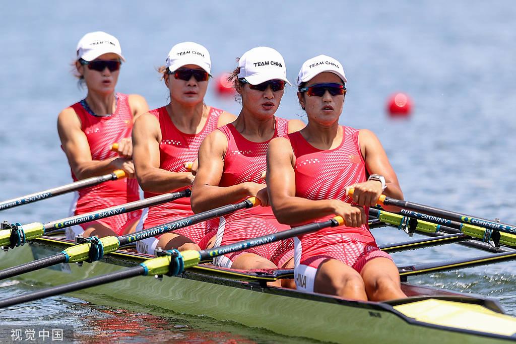 崔晓桐领衔进奥运A组决赛 锁定女子四人双桨小组头名