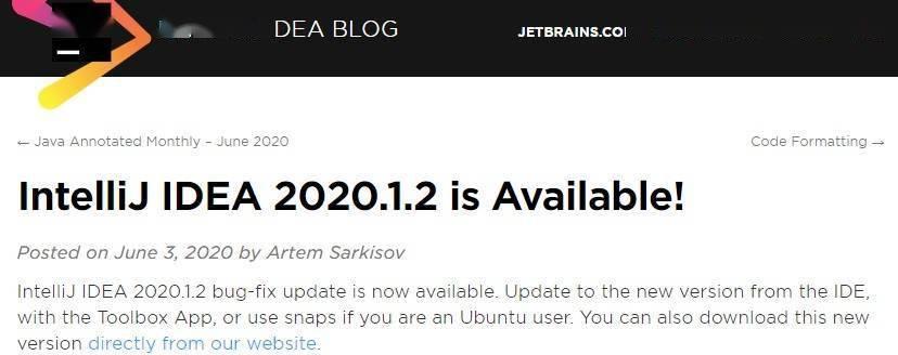 Java 开发工具 IntelliJ IDEA 2020.1.2 发布