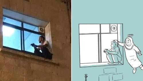 男子每晚爬窗守护感染beplay体育苹果手机怎么下载母亲至其逝世 感动20万人(图)