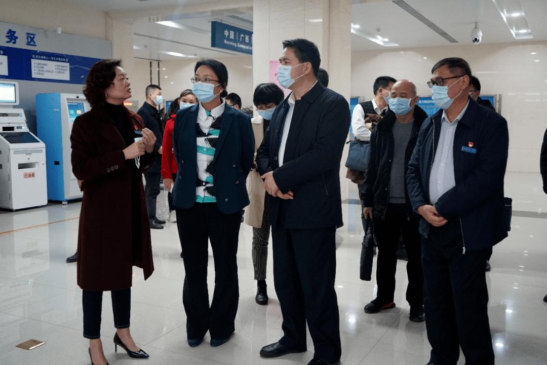 韦江调研广西自贸试验区南宁片区综合服务大厅运行情况
