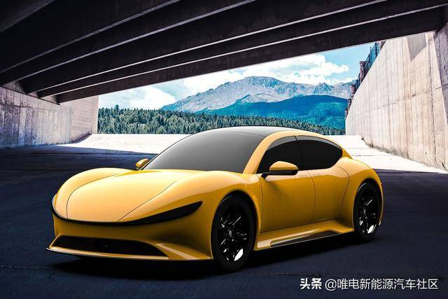 另一款新车曝光的宽松机车:复古纯电动宽体GT跑车,致敬法拉利P系列