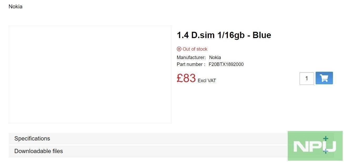 诺基亚 1.4 价格泄露:1+16GB 版本约合人民币 735 元