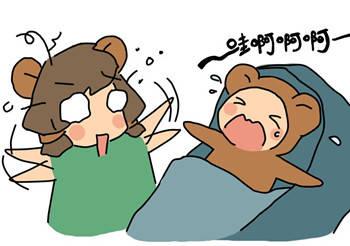 小宝睡觉狂摇头,是生病了吗?