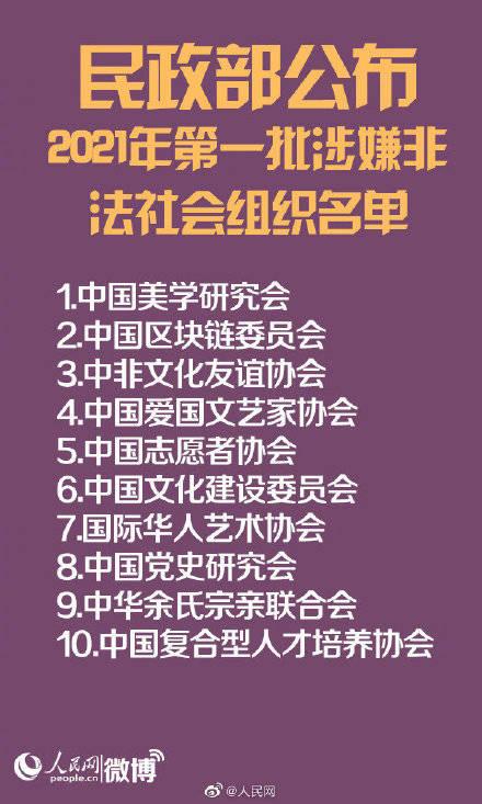 中国志愿者协会等上榜!民政部公布10个非法社会组织