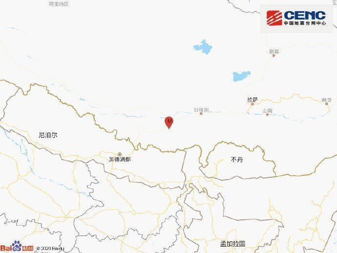 西藏日喀则市定日县发生3.2级地震 震源深度17千米