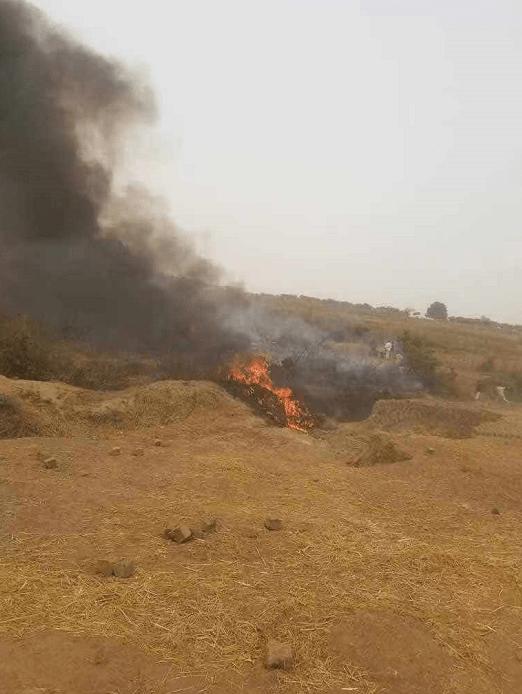 尼日利亚一空军客机坠毁 机上7人全部遇难