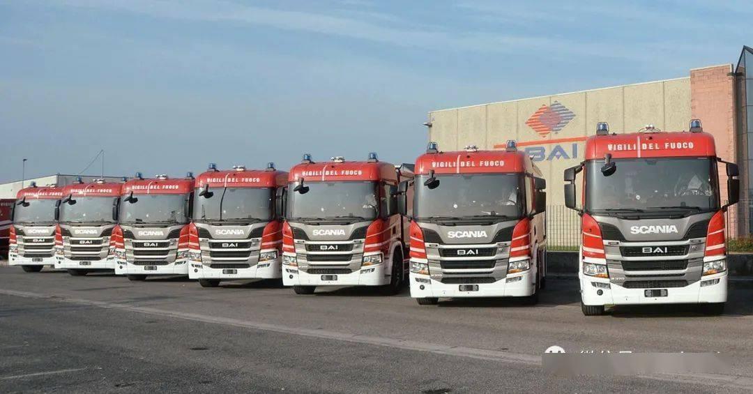 60台斯堪尼亚P370底盘百安消防车交付给意大利国家消防队