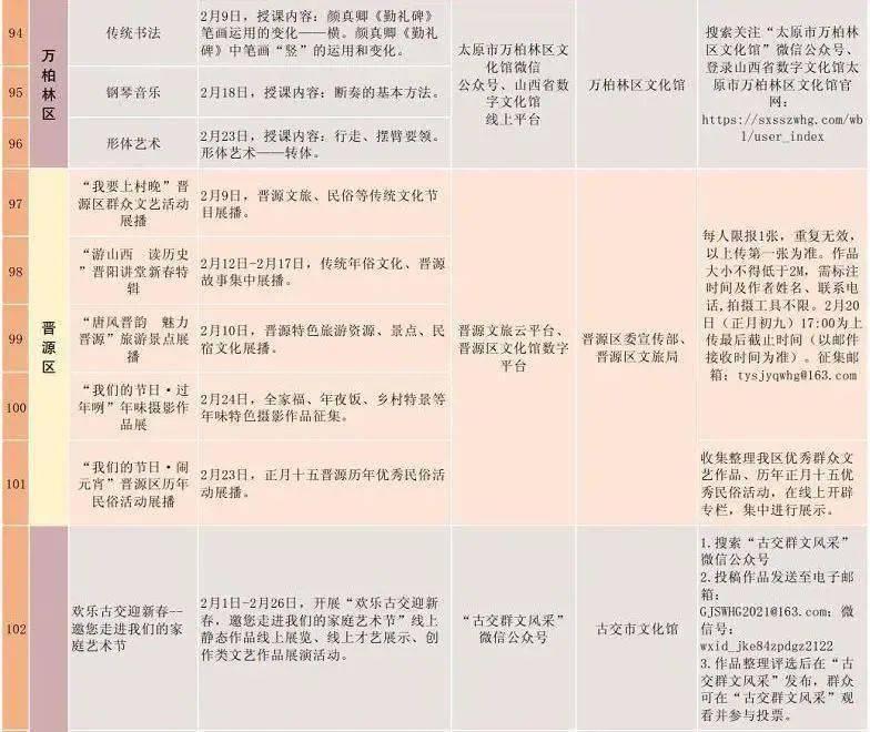 2021太原元宵节游玩超全攻略!内附线上线下节目表...  第49张