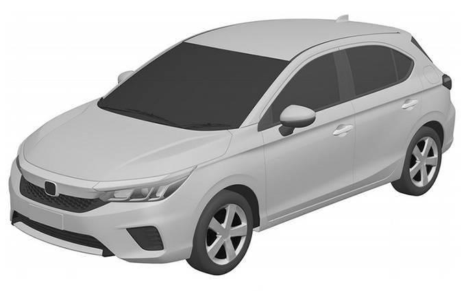 本田的新款紧凑型车暴露无遗,尺寸介于飞度和思域之间