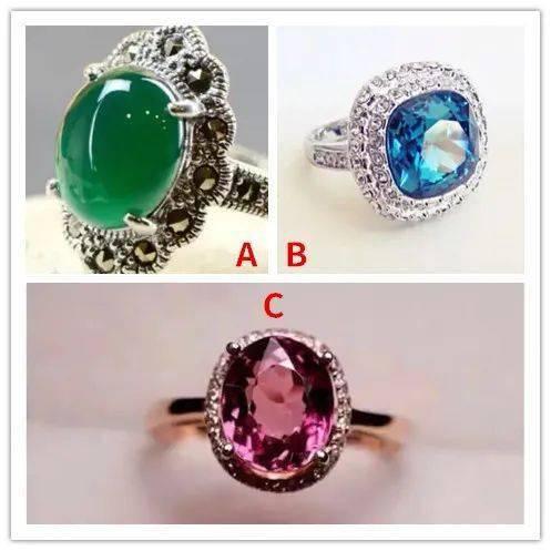 三款彩色宝石戒指哪个最好看,测测你念念不忘的是谁