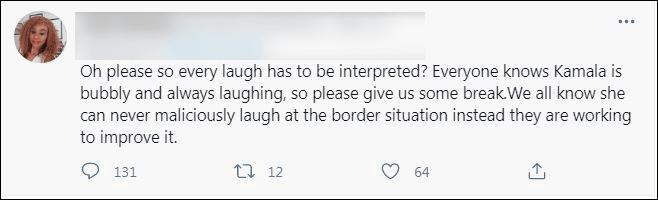 被问是否计划访问边境,哈里斯回应时大笑遭网友批评