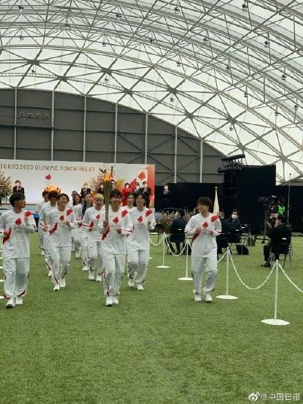 东京奥运圣火传递启动