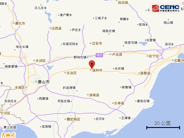 刚刚,唐山发生地震!