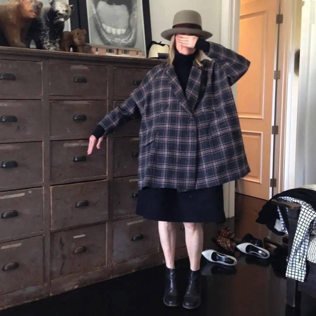 衣品||75岁还是最酷的女神 如何穿成戴安·基顿? 爸爸 第26张