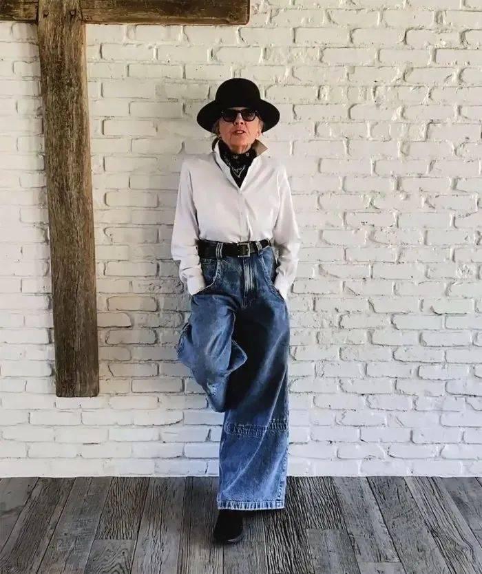 衣品||75岁还是最酷的女神 如何穿成戴安·基顿? 爸爸 第13张