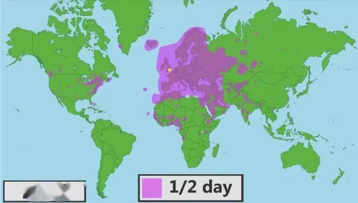 【地理视野】地理老师没有给你讲过这些罕见地图,因为可能会颠覆你的世界观  第20张