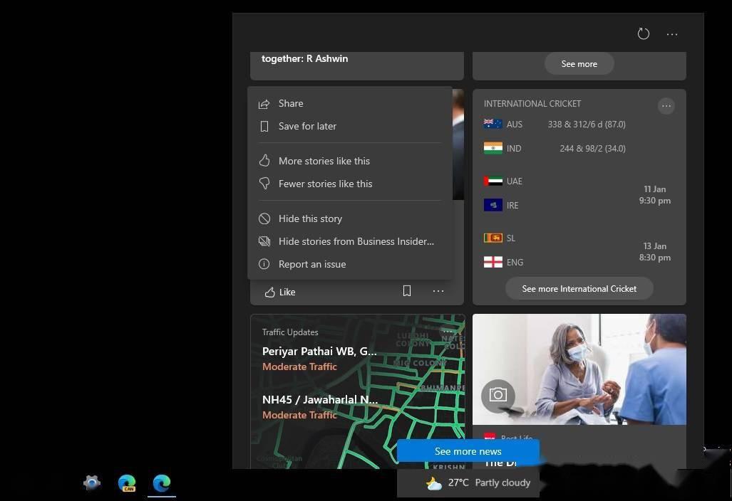 微软推出 Win10 任务栏新闻订阅功能,可通过注册表启用