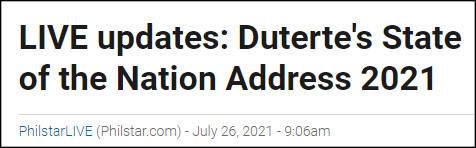 杜特尔特发表任内最后一次国情咨文,感谢中国向菲律宾捐赠新冠疫苗