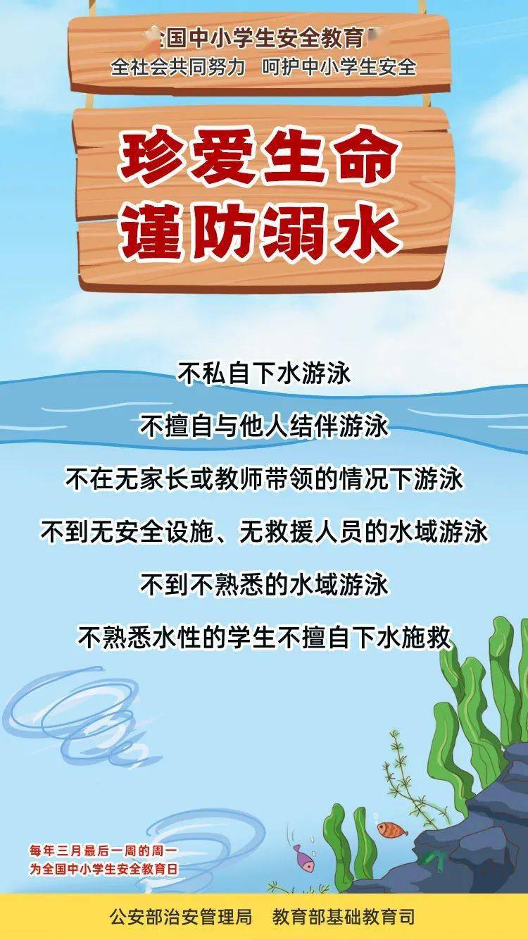 安全小课堂 暑假期间,严防溺水zvl